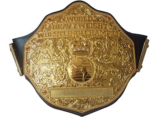 Fandu Belts Adult Replica Big Gold Wrestling Championship Belt Title The Best Gift to your Greast Daddy (Big Gold Belt)