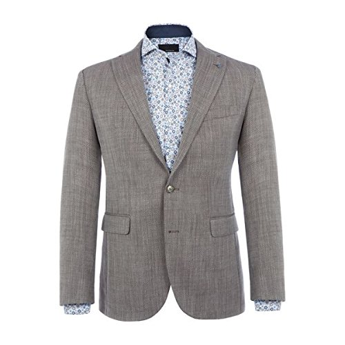 [バムラー] メンズ ジャケット&ブルゾン Alwin Slim-fit Basketweave Jacket [並行輸入品] B07F35B6D4 46 Regular