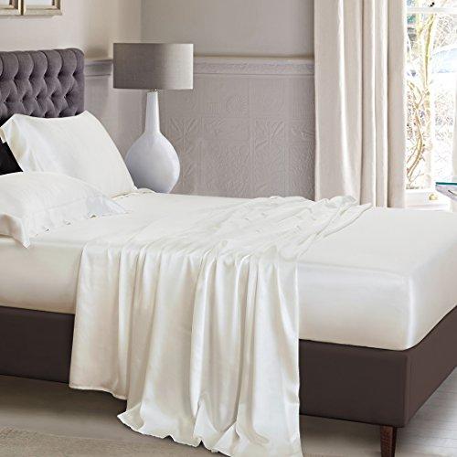 ElleSilk Pure Silk Flat Sheet, 25 Momme Silk Sheet, Premium Quality 100%  Mulberry