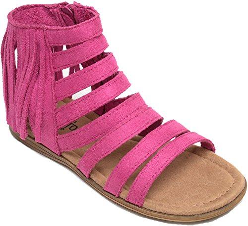Minnetonka Girls Emery Sandal, Hot Pink, Size 3