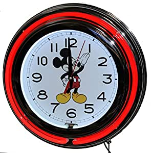 Amazon Com Mickey Mouse Neon Clock Home Amp Kitchen