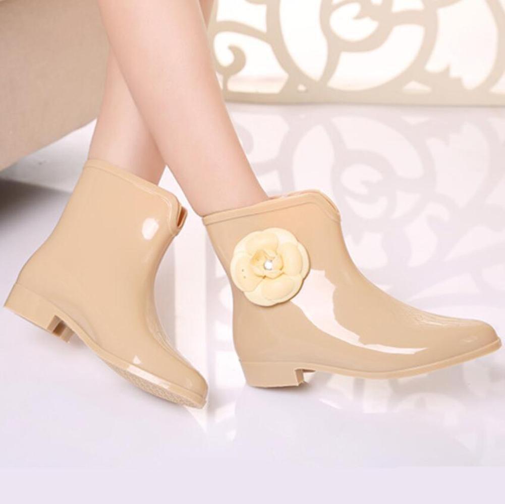 SIHUINIANHUA Damen Damen Damen in den Schlauch Regenstiefel Pailletten Gummistiefel Regen Stiefel Rutschfeste Wasser Stiefel Schuhe 7 36 de23be
