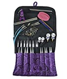 HiyaHiya Limited Edition Sharp Steel Interchangeable Knitting Needle Set, 4 Inch Tips