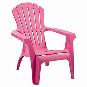 Progarden 36799 Dolomiti Chaise longue en plastique, empilable, rose on chaise recliner chair, chaise sofa sleeper, chaise furniture,
