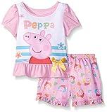 Peppa Pig Toddler Girls 2 Piece Short Set, Pink, 3T