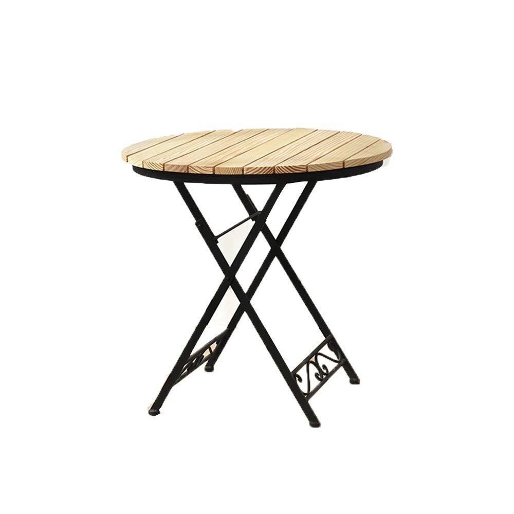 【メーカー再生品】 XIAOMEI - 折り畳み木製の小さな丸いテーブルバルコニー小さなコーヒーテーブルカジュアル屋外テーブルと椅子の組み合わせ - 70* 70 75センチメートル (色 : Table) : Table B07FM76TYT, ドラッグコーエイ:8f8cdacb --- diesel-motor.pl
