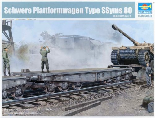 (Trumpeter 1/35 WWII German Army Type Ssyms 80 Heavy Armor Transport Flatcar )