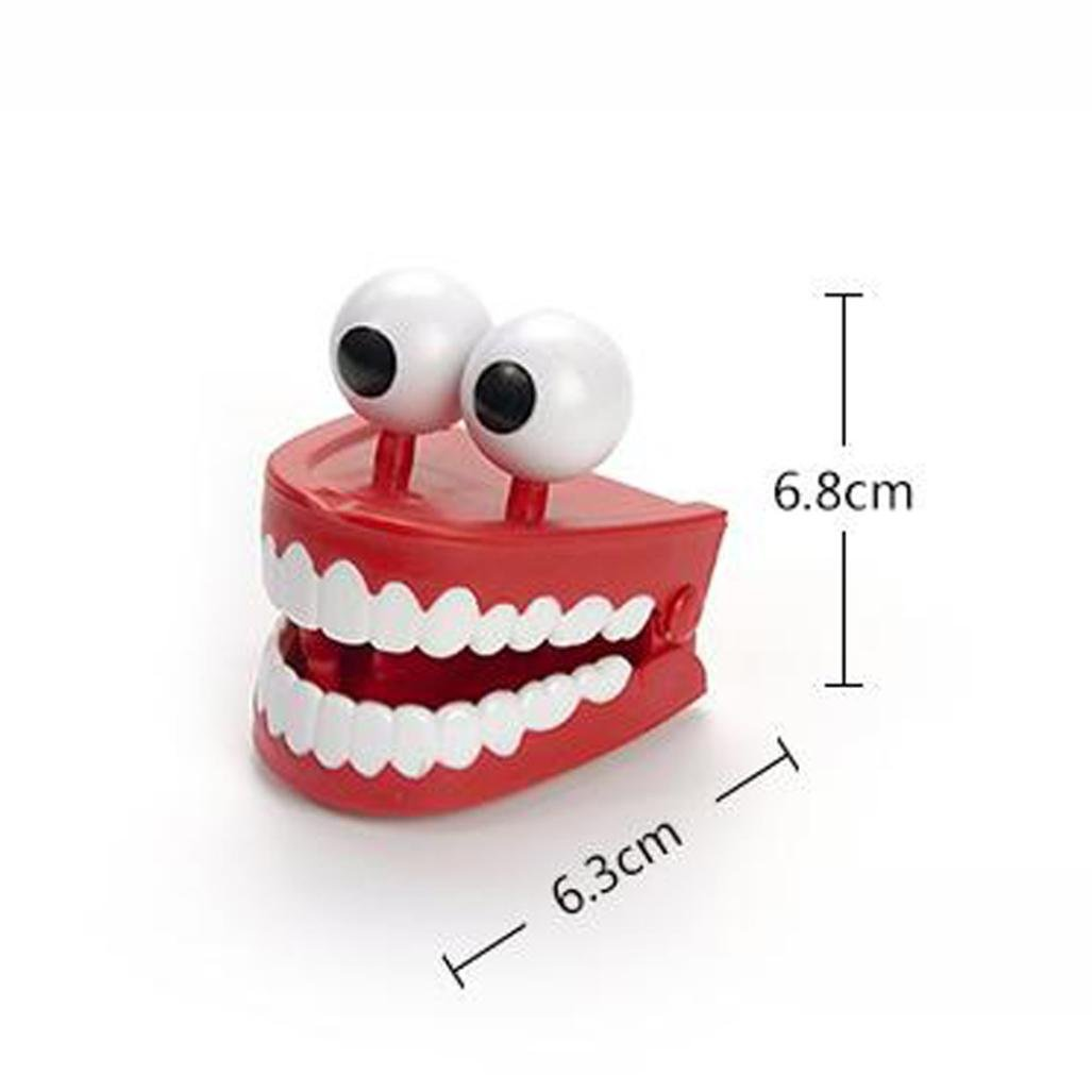 Ecosin Funny LED Wind Up Teeth Chattering Teeth No Eyes Toys/Party Bag Fillers Toy