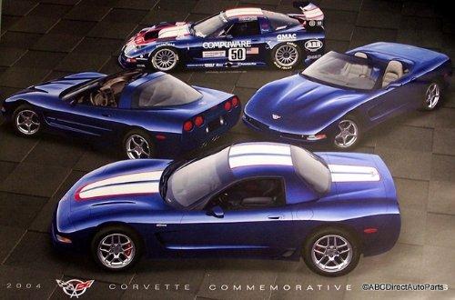 2004 Corvette C5 Z06 Z16 LeMans C5 Commemorative Poster