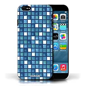 KOBALT? Protective Hard Back Phone Case / Cover for Apple iPhone 6/6S | Blue/White Design | Bath Tile Pattern Collection by lolosakes