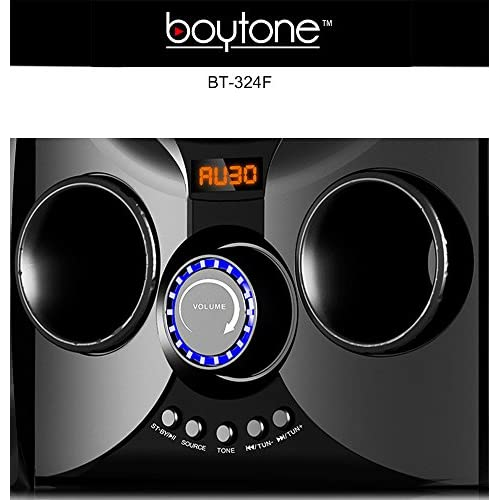 2.1 Bluetooth Powerful Home Theater Speaker System 50 Watts SD USB Ports Disco Lights Full Function Remote Control Boytone BT-428F for Smartphone Tablet. with FM Radio Digital Playback