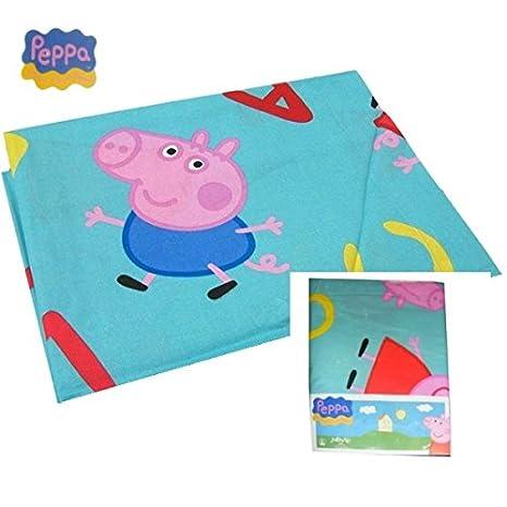 Lenzuola Di Peppa Pig.Completo Lenzuola Cotone La Peppa Pig Novia Letto Singolo 1 Piazza Bambino