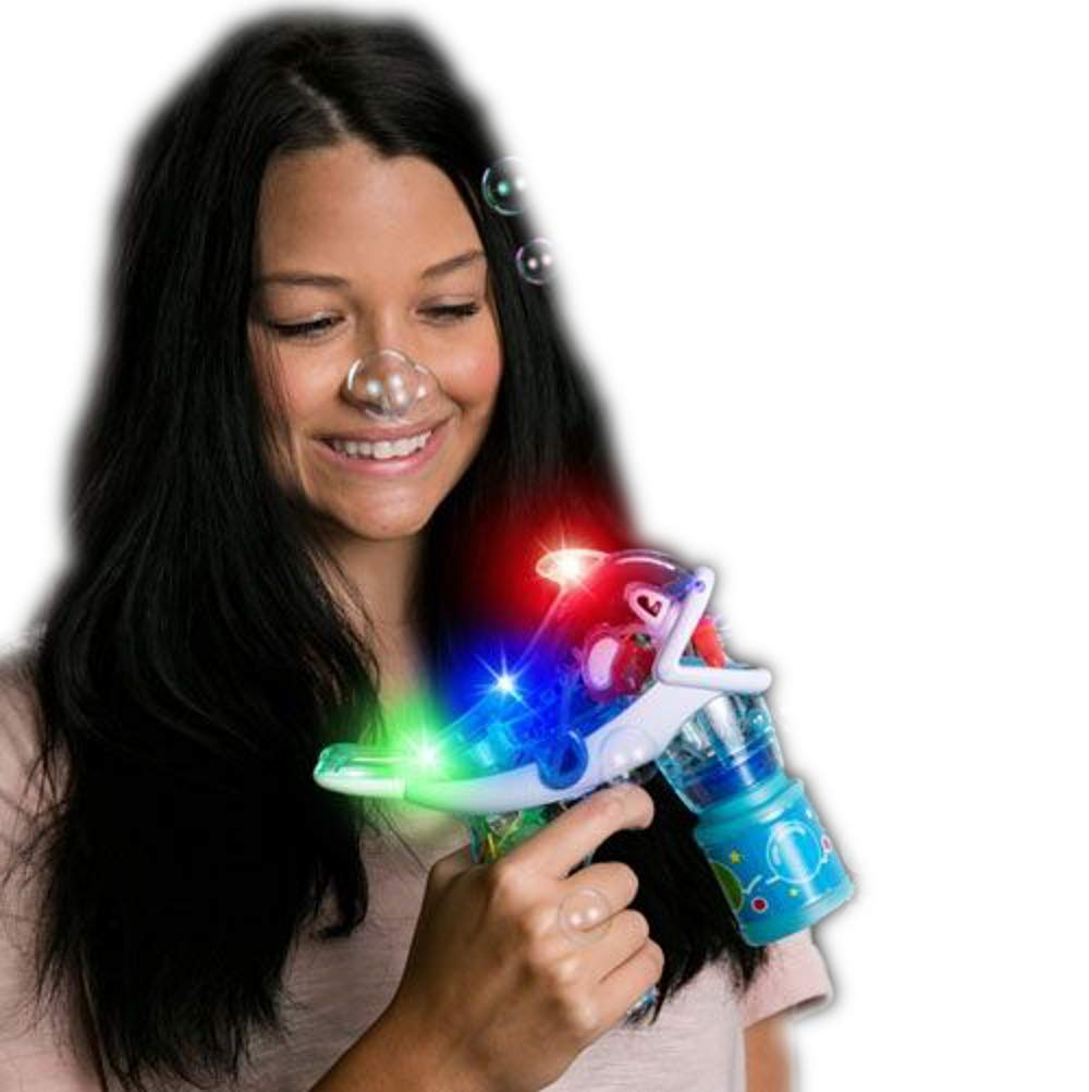 Amazon com: blinkee Light Up Dolphin Bubble Gun Assorted Colors by