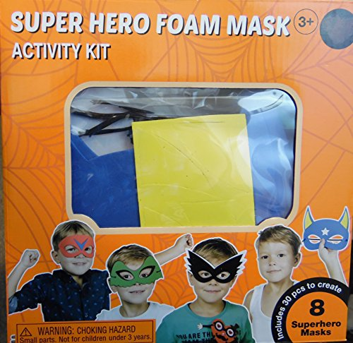 Creatology Halloween Superhero Masquerade Masks Decorations Foam Activity Kit Art Project Makes 8]()