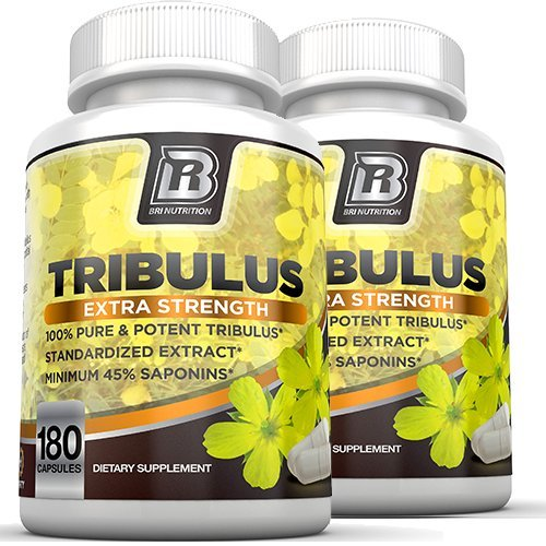 BRI Nutrition Tribulus Terrestris - 180 Count 45% Steroidal Saponins - Highest Purity On The Market - 1500mg Maximum Strength Bulgarian Tribulus - 2-Pack by BRI Nutrition