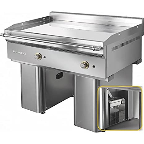 mainho fry-top Gas cromo sobre mueble 120 x 70 x 2 cm ...