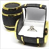 FYUE Lovely Velvet Jewelry Beer Barrel Box Rings Earrings Case