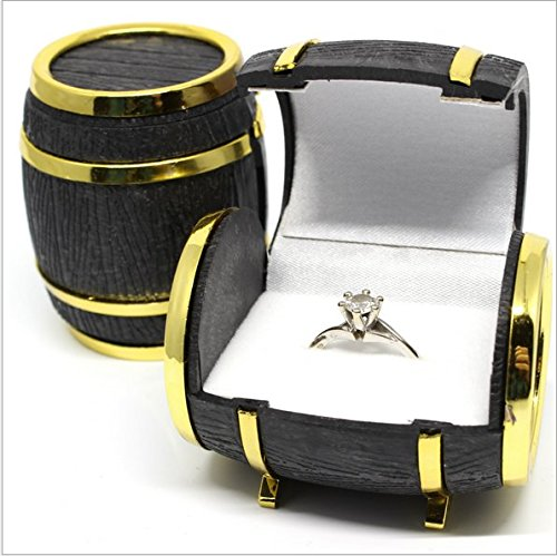 FYUE Lovely Velvet Jewelry Beer Barrel Box Rings Earrings Case by FYUE