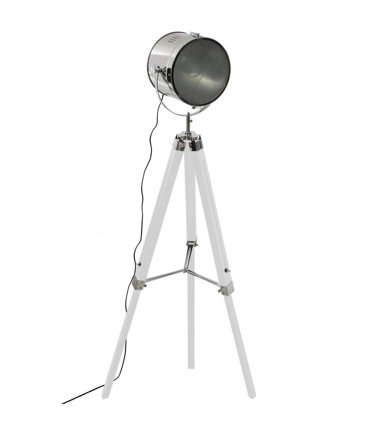 Atmosphera - Lámpara de pie proyector (Metal y Madera Cepillado ...