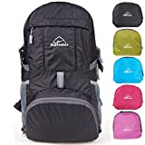 HOPSOOKEN 30L Ultra Lightweight Travel Water Resistant Packable Backpack for Hiking Cycling Sports...