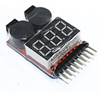 5 PCS 2in1 Warning Buzzer Tester 1-8s Low LiPo Voltage Indicator Alarm for RC