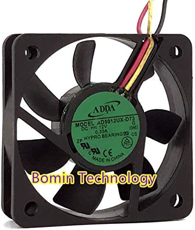 Bomin Technology for ADDA AD5012UX-D73 12V 0.3A 5CM Mute Chassis Cooling Fan