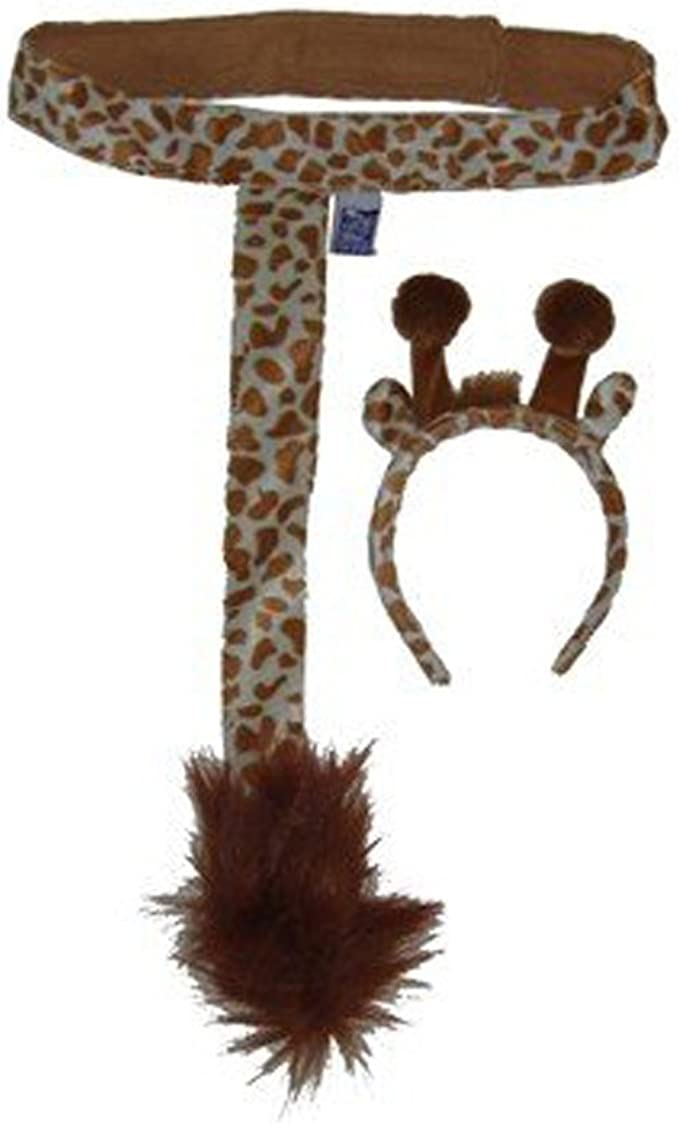 Elephant Animal Set Zoo Farm Jungle Safari Headbands Ear Bow Tail Fancy Dress SZ