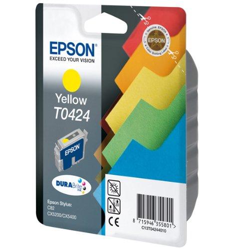 Epson C13T04244010 Cartuccia Inkjet, Ink Pigmentato Blister RS Durabrite, Giallo Cartucce Cartucceperstampantiefax