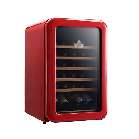 GXFC Refrigerador de Vinoteca Retro, 30 Botella Nevera de Vino ...
