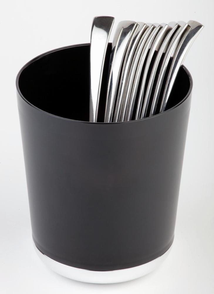 Dispone de sobras de la mesa - / recipiente, SAN, de colour negro, diámetro de 13 cm, altura: 15 cm: Amazon.es: Hogar