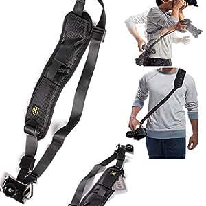 Universal Anti-Slip Sling Neck Strap ixaer Quick Rapid Release Camera Single Shoulder Belt for DSLR Digital SLR Camera with Rapid Fasten, Comfort, Ergonomic Design Curved Camera Strap Cases