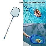 Leaf Skimmer Pool Net, Leaf rake Pool Pole Swimming Leaf Rake Net,LeafDebrisSkimmerNet4 Foot Telescopic Pole Swimming Pool Cleaning Tools