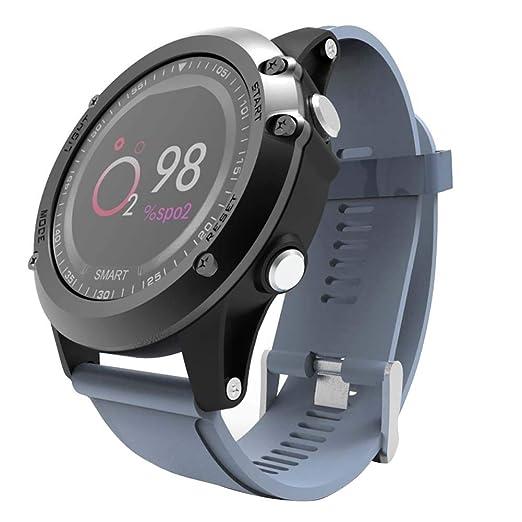 Denret3rgu Relojes Inteligentes Pulsera Inteligente con Bluetooth para el Deporte, Monitor de Ritmo cardíaco, Deporte para iOS Android - Azul: Amazon.es: ...