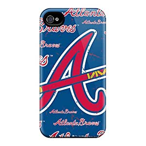 Wke1916zdtQ Case Cover, Fashionable Iphone 4/4s Case - Atlanta Braves