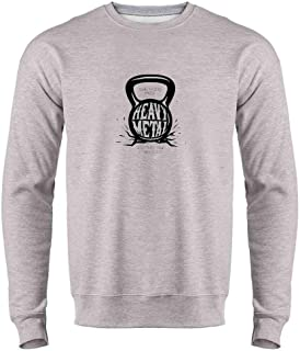 Kettlebell The Gods Made Heavy Metal Mens Fleece Crew Sweatshirt