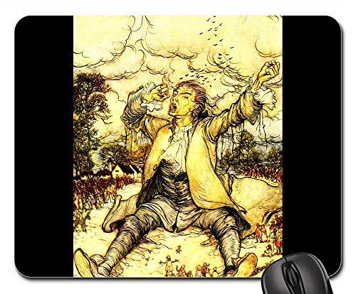 Mouse Pads - Gullivers Travels Arthur Rackham Vintage 1