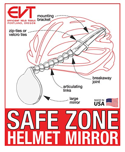 EVT Safe Zone Bicycle Helmet Mirror by by EVT (Image #5)