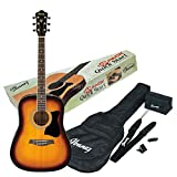 Ibanez V50NJP-VS Acoustic Guitar Pre Pack, Dreadnought, Vintage Sunburst