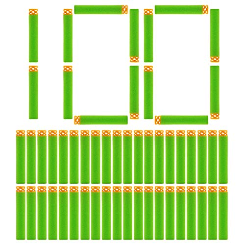 (Y-SPACE Refill Bullets 100 Darts Compatible with Nerf N Strike Elite Series, Waffle, Green)