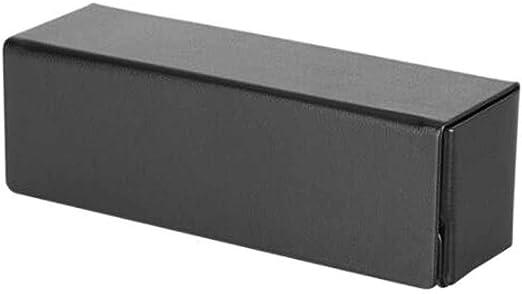 8HAOWENJU Gafas Caja del teléfono móvil Gafas Caja de Almacenamiento Gafas Gafas de Marco Grande Caja y Gafas Tela Negro (Color : Black): Amazon.es: Hogar