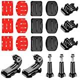Neewer 20-in-1 Accessory Kit for Gopro:Buckle Clip Basic Mount,J-Hook Buckle Mount,Long Thumb Screw 3-Pack Adhesive Mounts with Sticky Pads for GoPro Hero 3 3+ 4 5 6 7 Accessories SJ4000 SJ5000 SJ6000