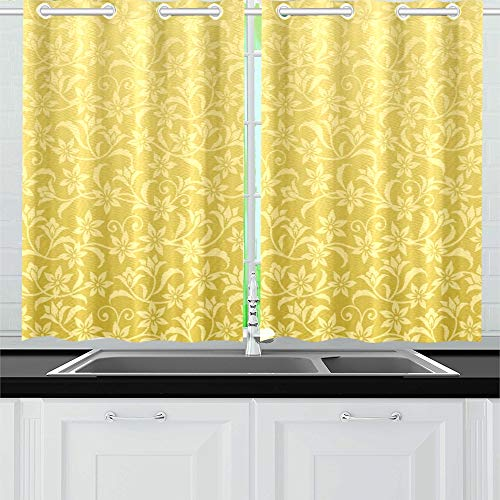 Two Tier Arabesque - JTMOVING Asian Decorative Kitchen Curtains Window Curtain Tiers for Café, Bath, Laundry, Living Room Bedroom 26 X 39 Inch 2 Pieces