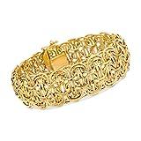 Ross-Simons Italian 14kt Yellow Gold Domed Byzantine Link Bracelet
