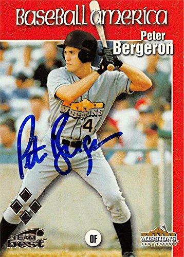 Peter Bergeron Autographed Baseball Card San Antonio Missions 1999