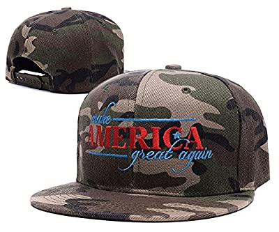 Carrie Donald Trump Make America Great Again Camo Cap Camouflage Snapback Hat