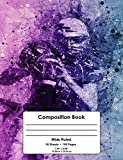 Composition Book: Wide Ruled School Notebook For