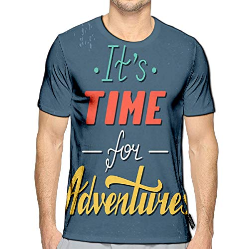 T-Shirt 3D Printed It Time Adventures Life Style Inspiration Quotes Casual Tees b