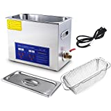 APHRODITE Stainless Steel 6L Liter Industry Heated Ultrasonic Cleaner Heater w/ Timer