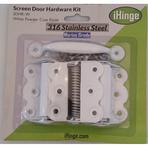 Screen Door Hardware Kit SS-316 Marine Grade Stainless Steel-White Powder Coat
