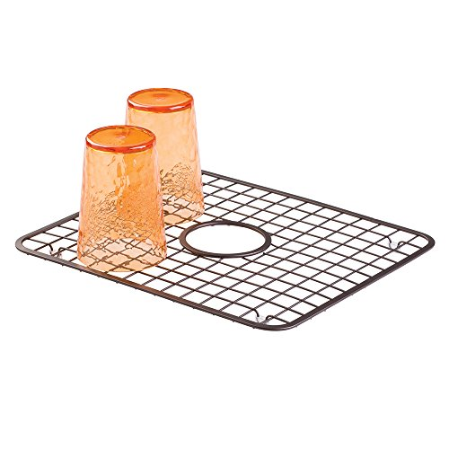 Mdesign Kitchen Sink Protector Grid Mat With Drain Hole